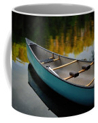 Canoe And Reflections On A Still Lake Coffee Mug