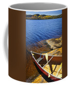 Canoe On Shore Coffee Mug