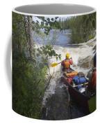 Canoeists Run A Rapid On The Winisk Coffee Mug