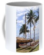Canoes At Hui O Waa Lahaina Maui Hawaii Coffee Mug