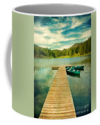 Canoes At The End Of The Dock Coffee Mug