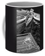 Canoes Docked At Lost Lake Coffee Mug