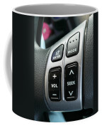 Car Steering Mounted Music Player Buttons Coffee Mug