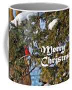 Cardinal Christmas Card Coffee Mug