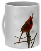 Cardinal In The Snow Coffee Mug