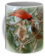 Cardinal Kisses Coffee Mug