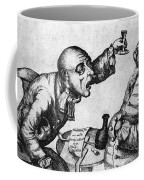 Caricature Of Two Alcoholics, 1773 Coffee Mug