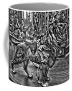 Carousel  Black And White Coffee Mug