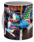 Carousel Horse With Sea Motif Coffee Mug