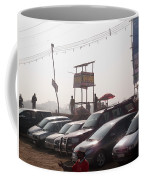 Cars In A Parking Lot At Surajkund Coffee Mug