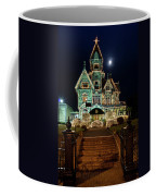 Carson Mansion At Christmas With Moon Coffee Mug