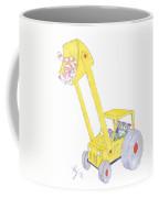 Cartoon Digger And Cats Coffee Mug