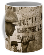 Carving The Name Of Jesse Owens Into The Champions Plinth At The 1936 Summer Olympics In Berlin Coffee Mug by American School
