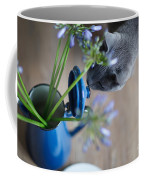 Cat And Flowers Coffee Mug