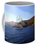 Catalina Shoreline Ghost Ship Coffee Mug
