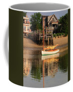 Catboat And Rippled Water Reflections Coffee Mug