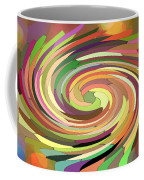 Cat's Tail In Motion. Stained Glass Effect. Coffee Mug