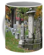 Cemtery Cracked Tombstones Coffee Mug