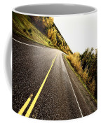 Center Lines Along A Paved Road In Autumn Coffee Mug
