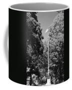 Central Park Flag In Black And White Coffee Mug