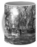 Central Park Mall In Black And White Coffee Mug