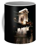 Chain Bridge At Night Coffee Mug