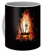 Chair And Horn With Fireworks Coffee Mug