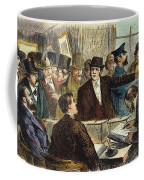 Challenging A Voter, 1872 Coffee Mug