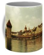 Chapel Bridge Lucerne Switzerland Coffee Mug by Susanne Van Hulst