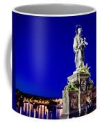 Charles Bridge Statue Of St John Of Nepomuk     Coffee Mug by Jon Berghoff