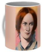 Charlotte Bronte, English Author Coffee Mug by Science Source