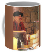 Cheese Seller At Sarlat Market Coffee Mug