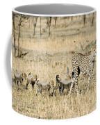 Cheetah Mother And Cubs Coffee Mug