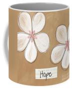 Cherry Blossom Hope Coffee Mug by Linda Woods