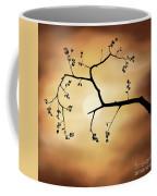 Cherry Blossom Over Dramatic Sky Coffee Mug