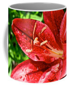 Cherry Red Lily Coffee Mug
