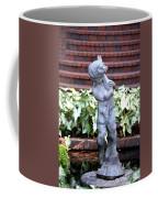 Cherub At The Pond Coffee Mug