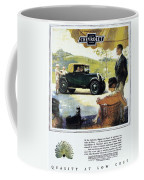 Chevrolet Ad, 1927 Coffee Mug