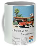 Chevrolet Ad, 1957 Coffee Mug