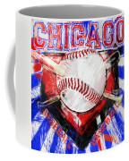 Chicago Baseball Abstract Coffee Mug by David G Paul