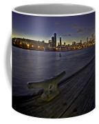 Chicago Skyline And Harbor At Dusk Coffee Mug by Sven Brogren
