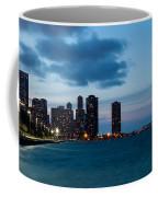 Chicago Skyline And Navy Pier At Dusk Coffee Mug