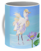 Chick And  Water Lily Coffee Mug