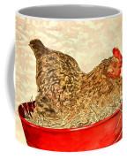 Chicken Hen Painting Art Print Coffee Mug