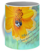 Child Birthday Greeting From Parent Parents - Cosmos And Bumblebee Coffee Mug
