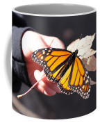 Child With Butterfly Coffee Mug