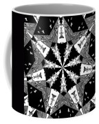 Children Animals Kaleidoscope Black And White Coffee Mug