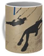 Children Cast Body Shadows In The Sand Coffee Mug