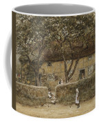 Children Outside A Cottage Coffee Mug