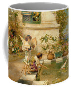 Children Playing With Boats Coffee Mug